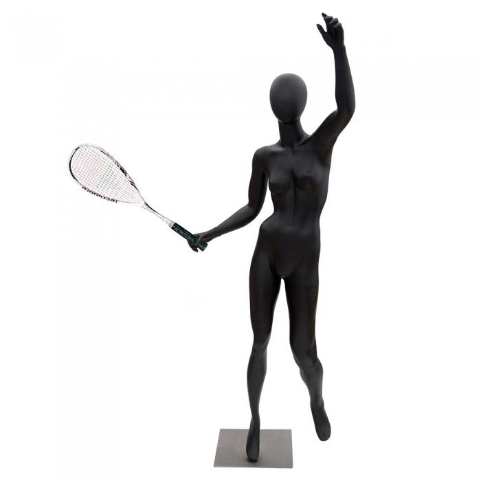 700x700 Female Black Matt Tennis Sports Mannequin Valentino'S