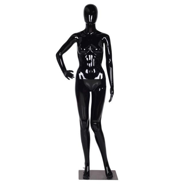 640x640 Female Mannequin Egghead Plastic Full Body Dress Form Display High