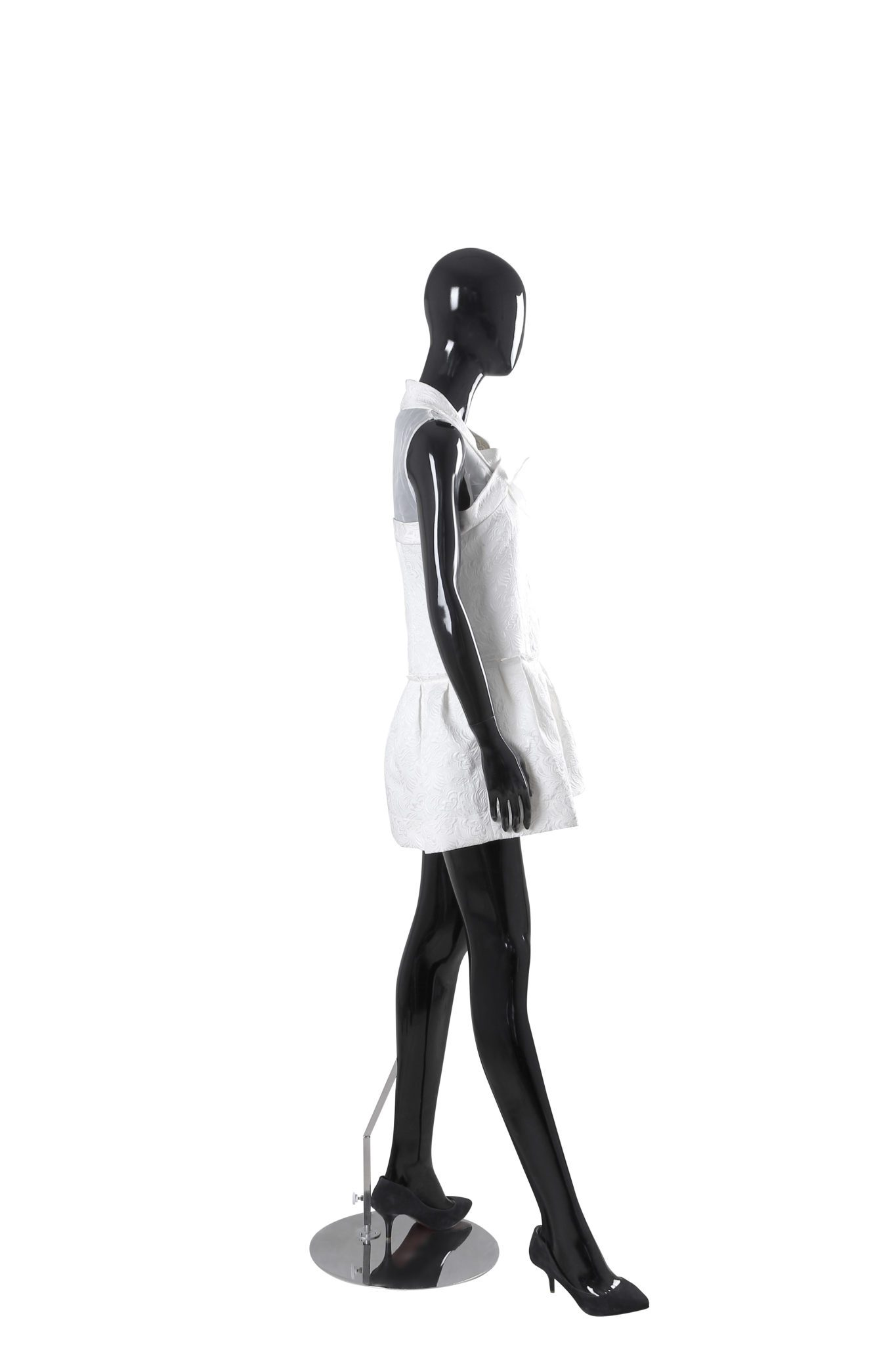1365x2048 Glossy Black Female Abstract Mannequin Displays Depot Inc