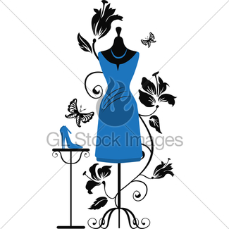 325x325 Silhouette Of A Woman In Luxury Dress Gl Stock Images