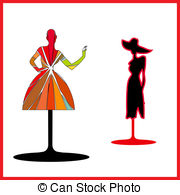 180x195 Silhouette Female Mannequin And Red Heart. Silhouette