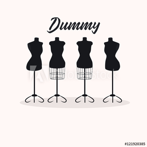 500x500 Vintage Collection Of Female Mannequins. Silhouettes Figures