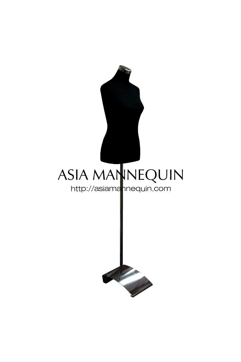 800x1200 Buy Tmf Female Torso Mannequin, Blackwhite (Flat Base) Asia
