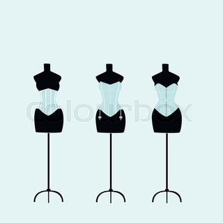 320x320 Classic Female Mannequin Silhouette Set Stock Vector Colourbox