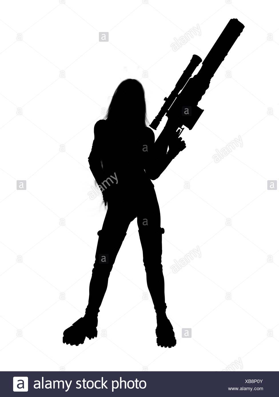 976x1390 Girl Gun Silhouette Stock Photos Amp Girl Gun Silhouette Stock