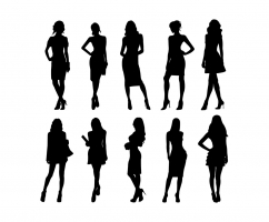 242x200 Woman Silhouette Vector Free Download Free Vector Graphic Art Free