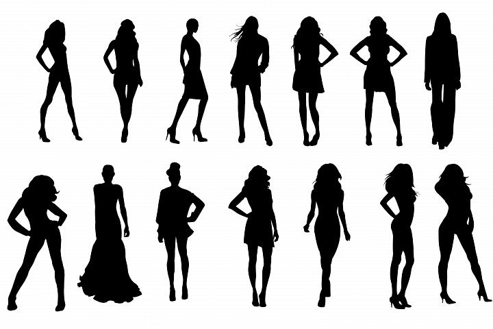 720x480 Fashion Model Silhouettes,female Model Silhouettes,female