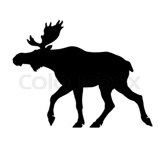 320x320 Silhouette Moose On Wood Background Stock Photo Colourbox