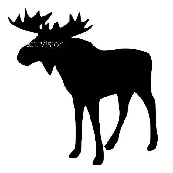 570x570 Vector Moose Svg Dxf Pdf Png Jpg Download Digital Image Shapes