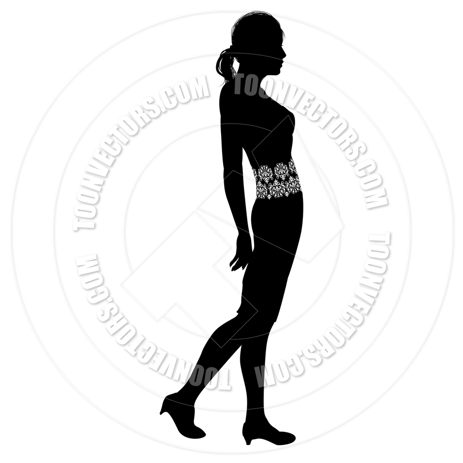 940x940 Woman Profile Silhouette By Geoimages Toon Vectors Eps