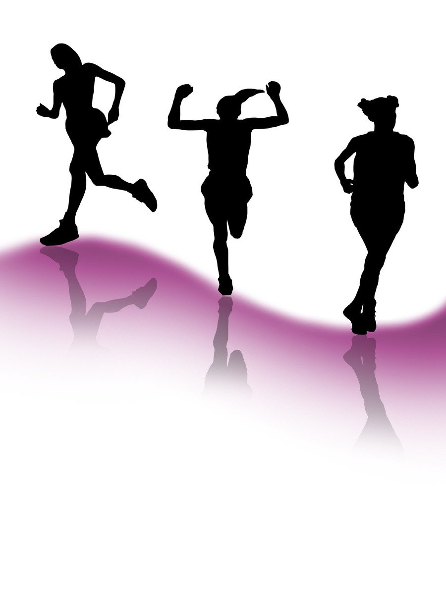 900x1200 Free Runners Silhouette