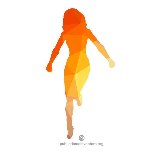 660x660 Silhouette Of A Female Runner