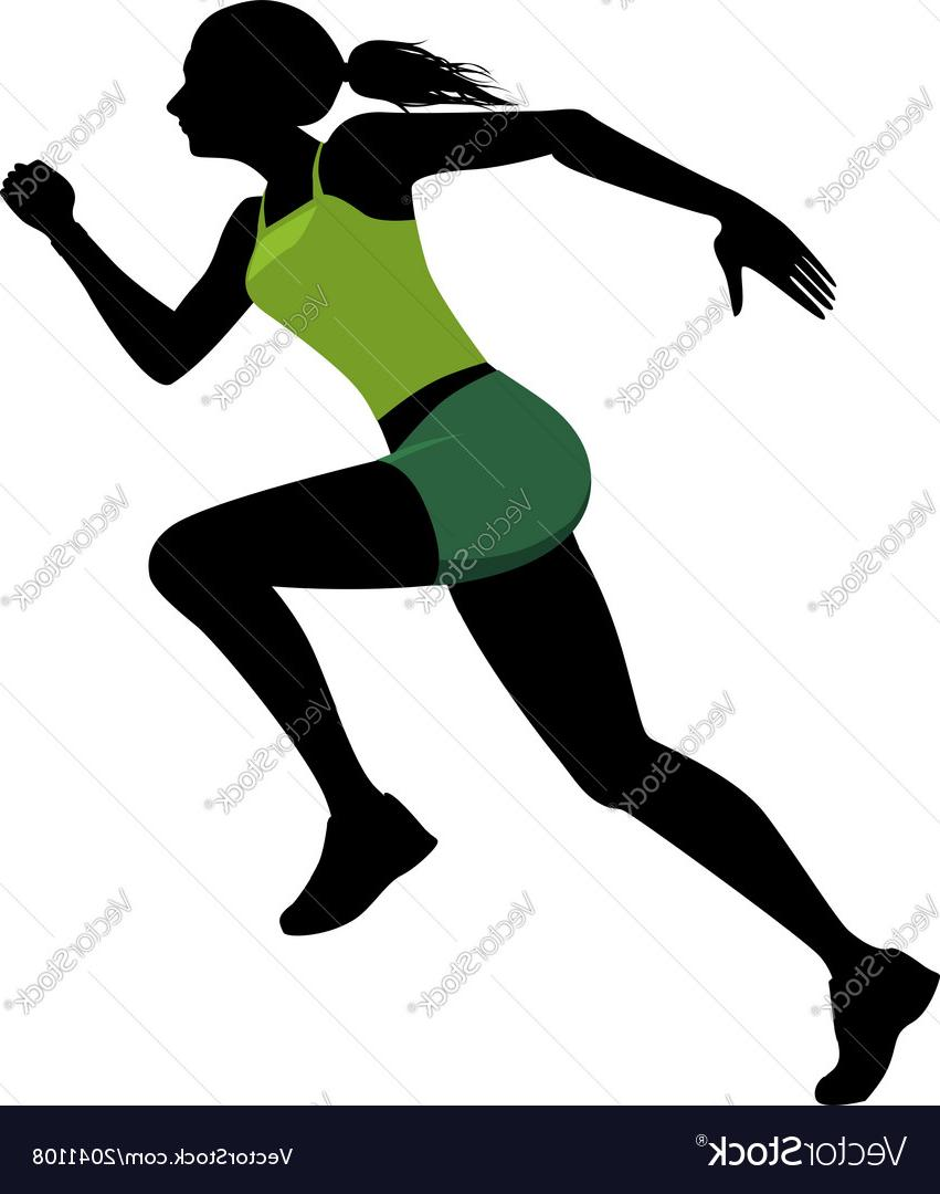 851x1080 Top Female Runner Silhouette Vector Cdr
