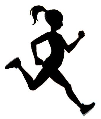 342x404 Woman Running Silhouette Clip Art