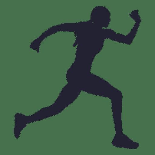 512x512 Athlete Running Silhouette