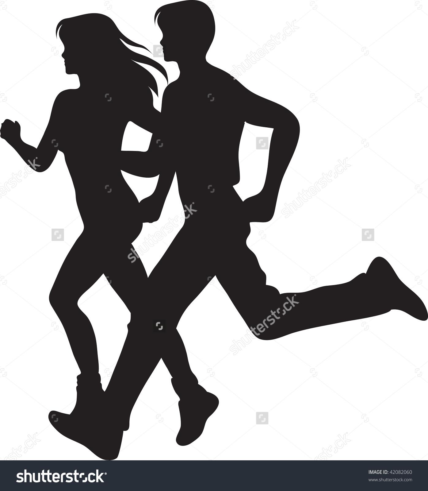 1396x1600 Running Woman Clipart