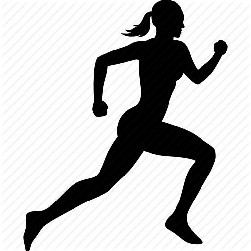 512x512 Exercise, Female, Fitness, Run, Runner, Running, Woman Icon Icon