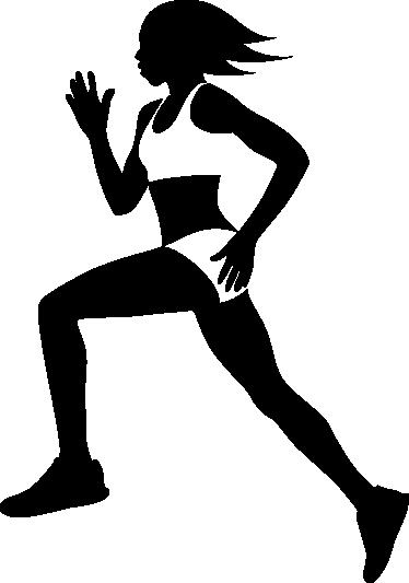 374x533 Female Runner Silhouette Wall Sticker