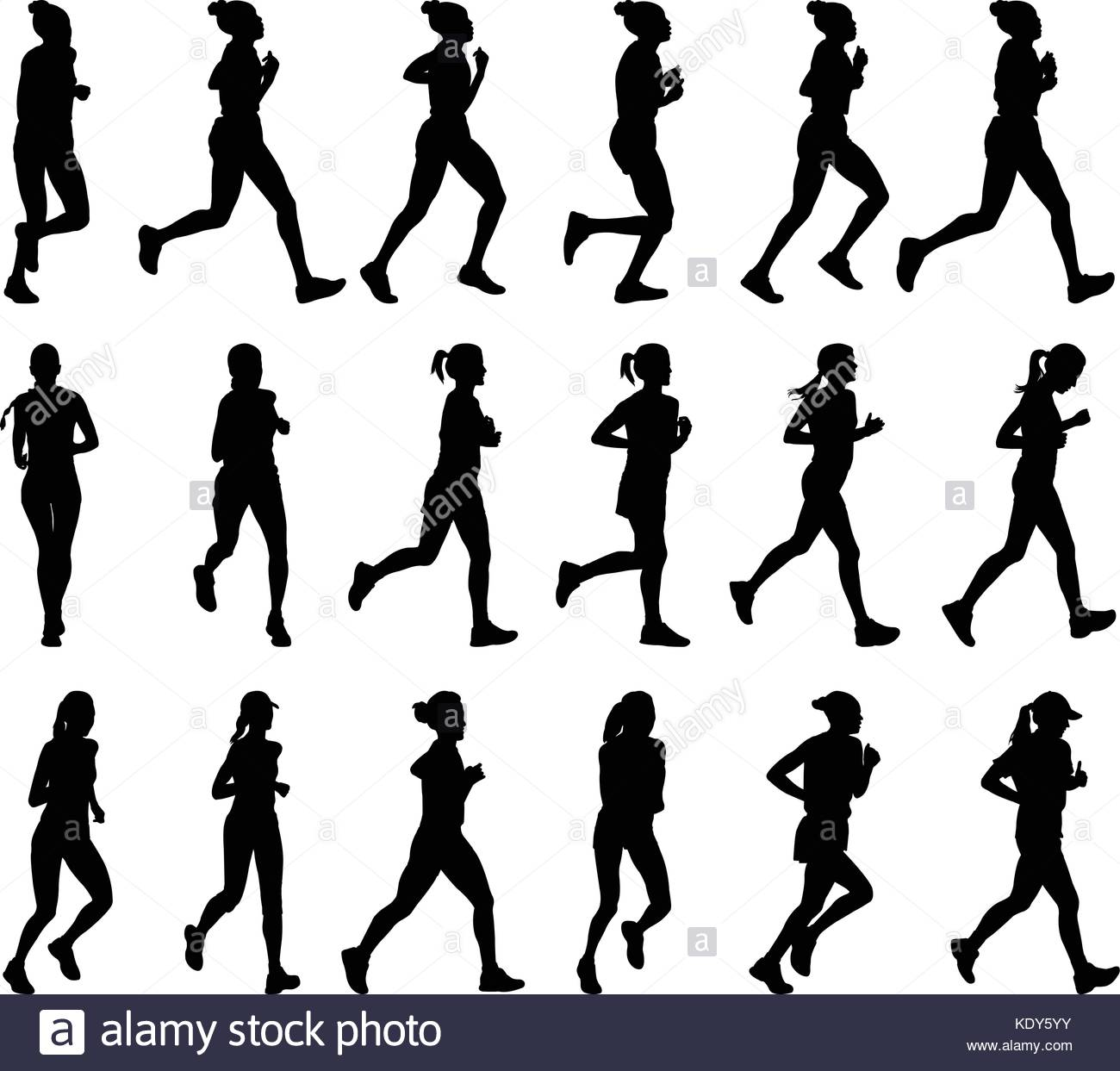 1300x1243 18 High Quality Female Marathon Runners Silhouettes
