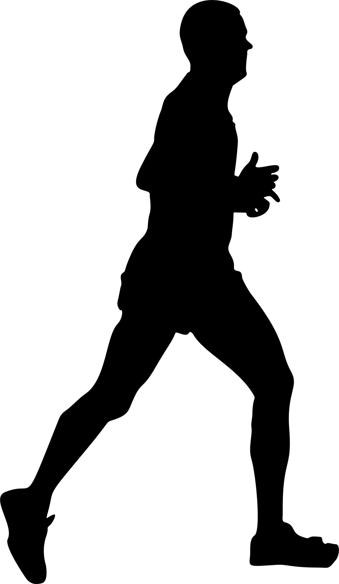 1351x2331 Male Runner Silhouette Icons Png
