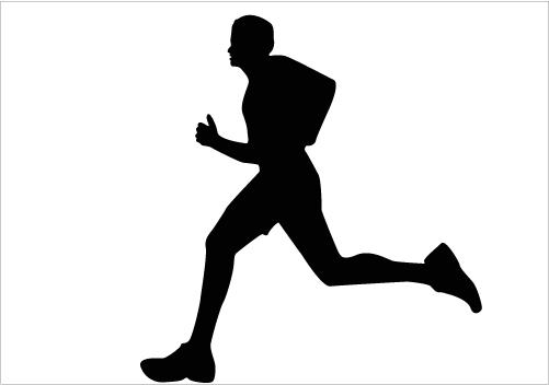 501x352 Silhouette Clipart Runner