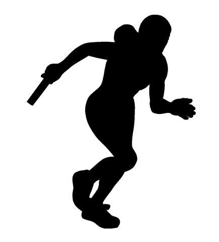 434x480 Track Runner Silhouette