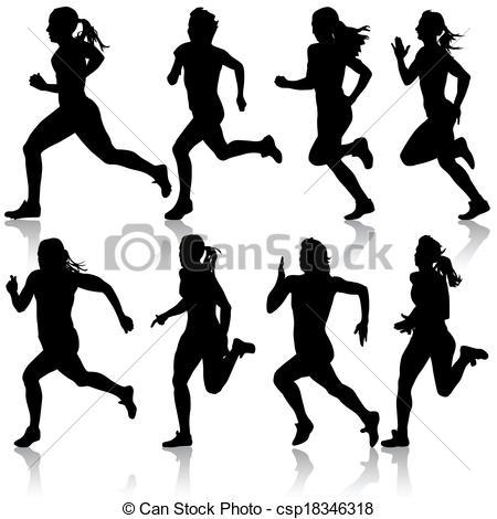 450x470 Women Clipart Sprinter