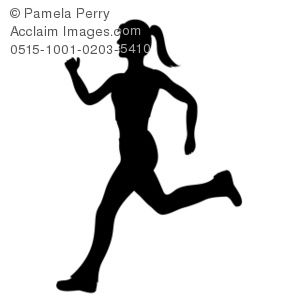 300x300 Female Track Runner Clip Art Collection Of Andmatches Art