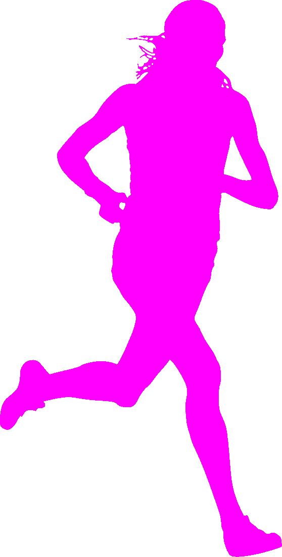 558x1104 Pink Runner Silhouette 3 Ways A.c.