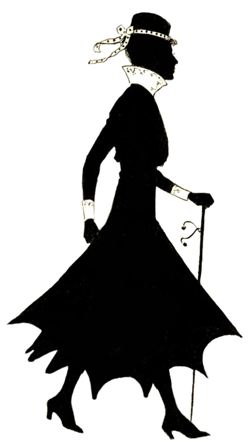 506x886 Free Vintage Lady Silhouette Clipart