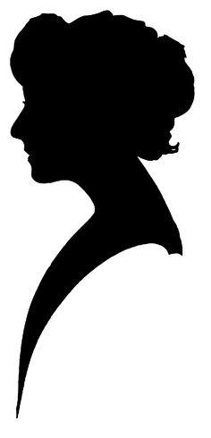 236x490 Face Silhouette Woman Stencil Template