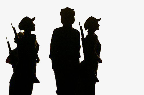 500x332 Red Female Silhouette, Girls, Red Army, Sketch Png Image