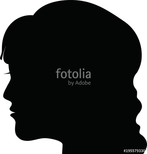 477x500 Female Head Silhouette Icon 3 Stock Image And Royalty Free Vector