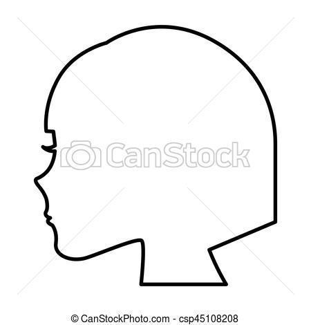 450x470 Female Profile Silhouette Icon Vector Illustration Design Vector