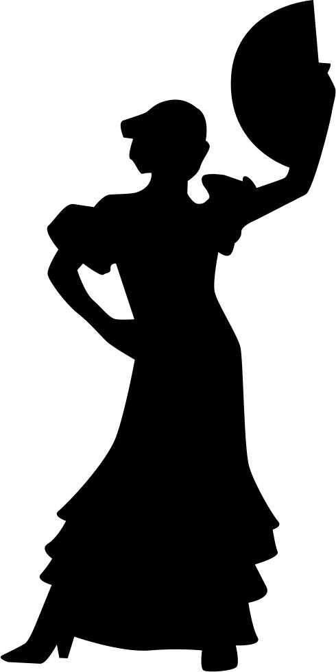 490x981 Flamenco Woman Female Silhouette Dancing Svg Png Icon Free