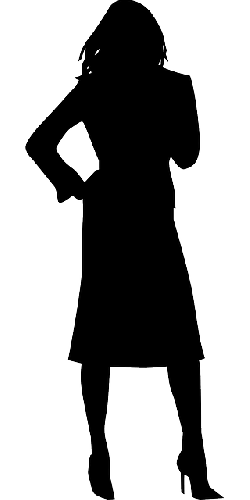 250x500 Female, Silhouette, Woman, Standing, Waiting