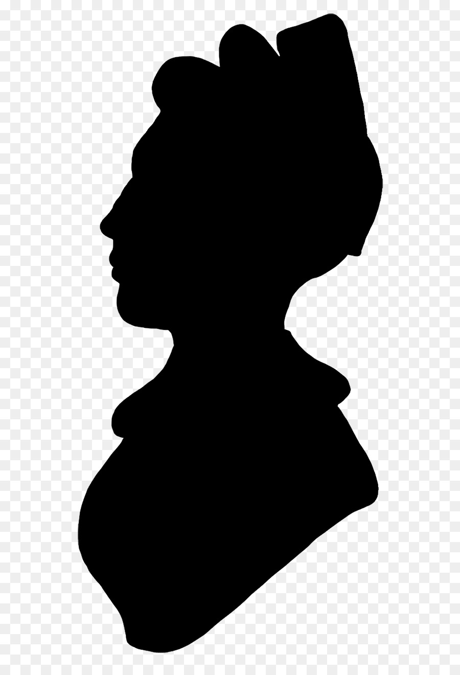 900x1320 Woman With A Hat Silhouette Female Clip Art