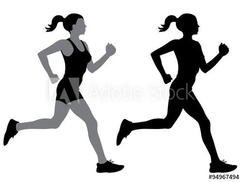 500x375 A Female Jogger In Silhouette Profile
