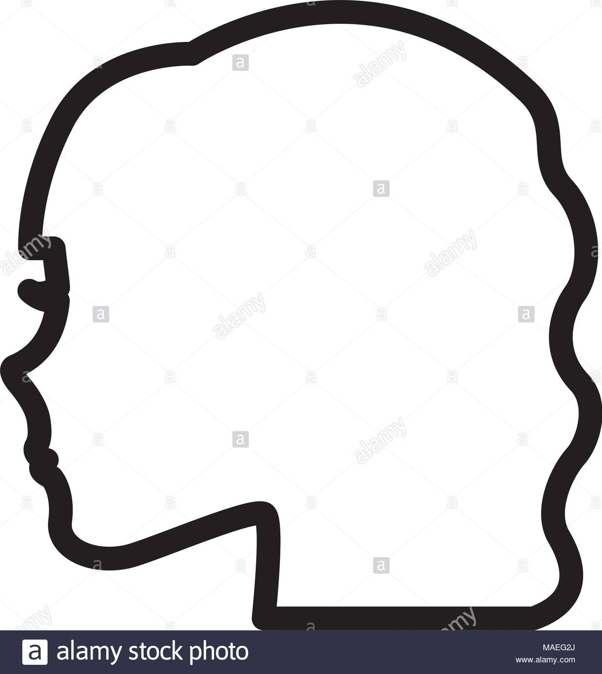 1241x1390 Silhouette Profile Female Character Vector Illustration Outline