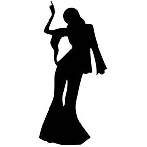 300x300 Stand Up Female Disco Dancer Silhouette 1.7m Peeks Ness 40