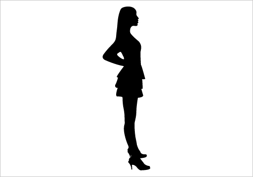 501x351 Standing Women Silhouette Graphics Silhouette Graphics