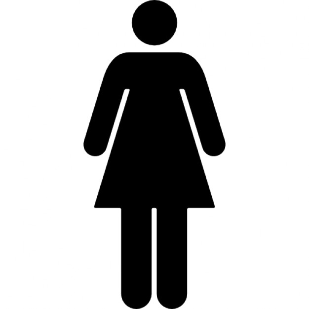 626x626 Woman Standing Silhouette Black Shape Icons Free Download