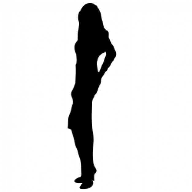 626x626 Female Silhouette Clip Art Woman Silhouette 01 Download Free