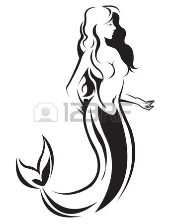 350x450 Mermaid Silhouette Tattoo Mermaid Silhouette Vector Mermaid