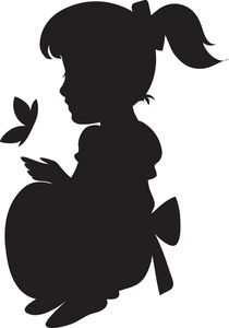 210x300 Little Girl Silhouette Clip Art Free Art From The Ashes
