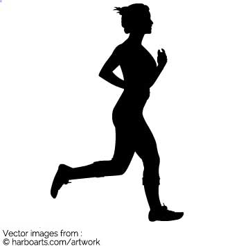 335x355 Download Runner Female Silhouette