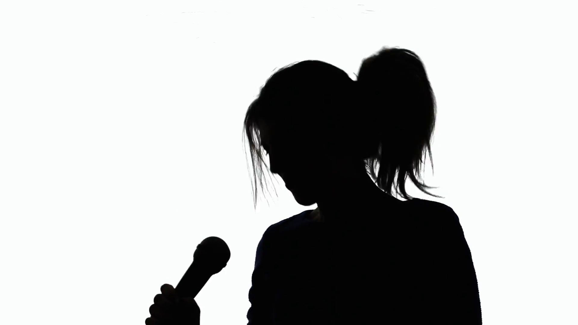 1920x1080 Silhouette Woman Sing Crazy. A Crazy Singer (A Woman) Moving
