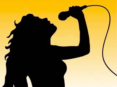 400x298 Female Singer Silhouette