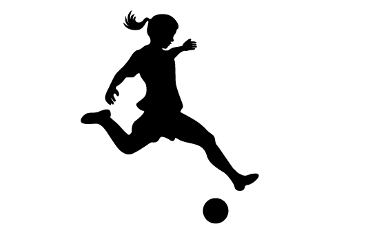 550x354 Girls Playing Soccer Silhouette Vector Girl Playing Soccer