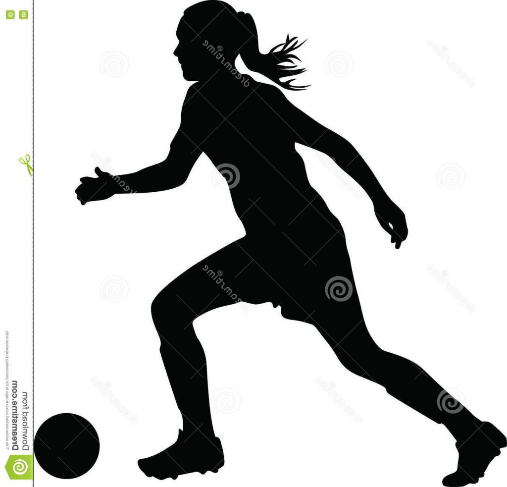 1024x983 Unique Woman Soccer Player Silhouette Vector Cdr